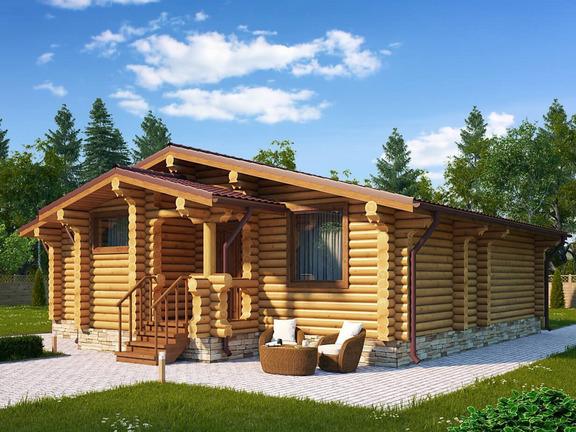 Проект деревянного дома «Дом №10» 95.5м2 - АЛМА WoodWork