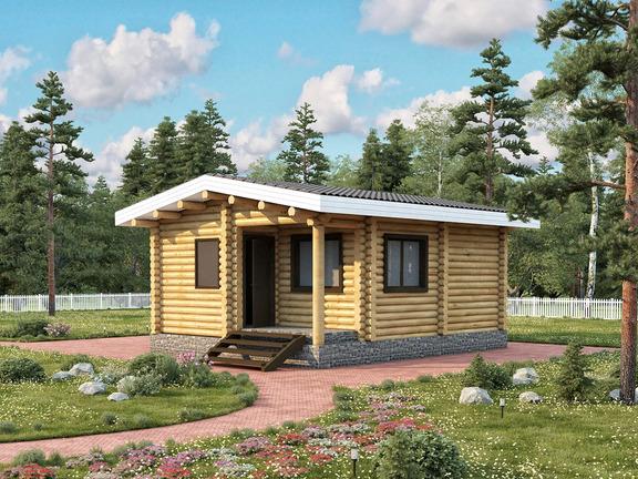 Проект деревянного дома «Баня №11» 38.5м2 - АЛМА WoodWork