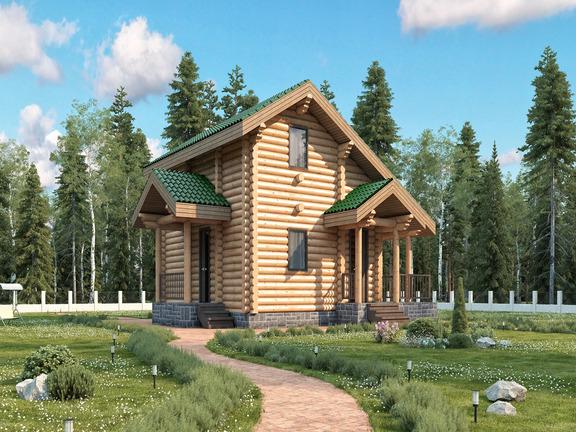 Проект деревянного дома «Баня №15» 95м2 - АЛМА WoodWork