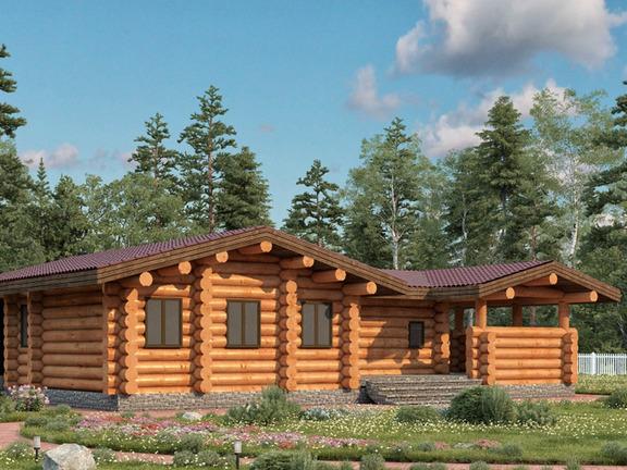 Проект деревянного дома «Баня №16» 134м2 - АЛМА WoodWork