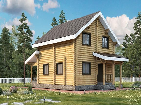 Проект деревянного дома «Дом №17» 170м2 - АЛМА WoodWork