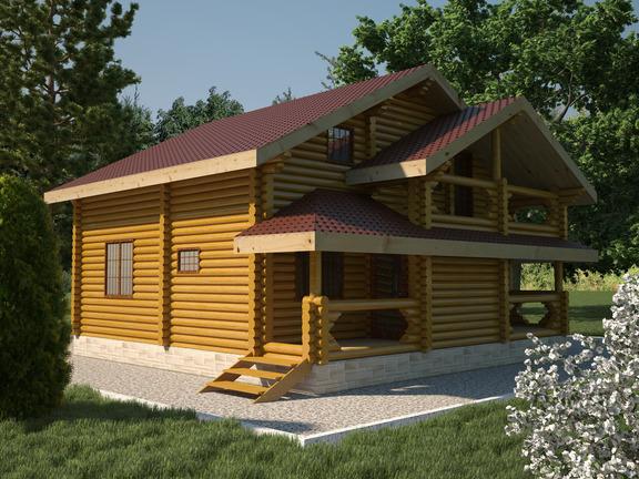 Проект деревянного дома «Дом №18» 180м2 - АЛМА WoodWork