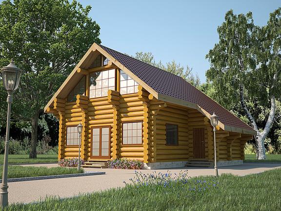 Проект деревянного дома «Дом №19» 186м2 - АЛМА WoodWork