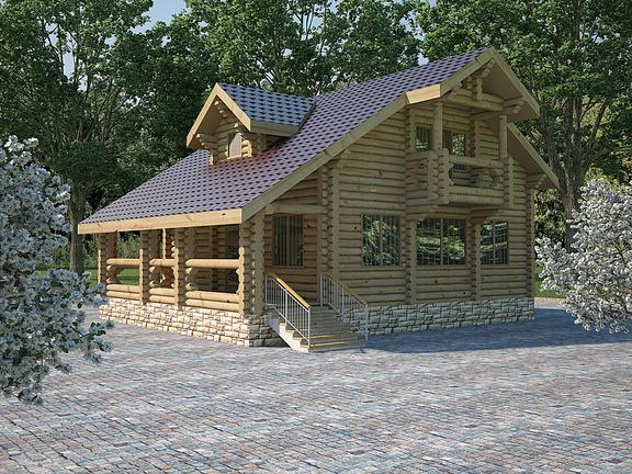 Проект деревянного дома «Дом №20» 195.5м2 - АЛМА WoodWork