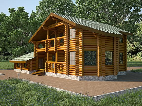 Проект деревянного дома «Дом №21» 280м2 - АЛМА WoodWork