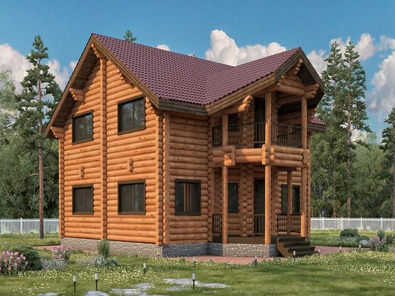 Проект деревянного дома «Дом №22» 260м2 - АЛМА WoodWork