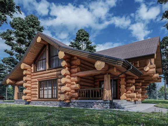 Проект деревянного дома «Дом №23» 212м2 - АЛМА WoodWork