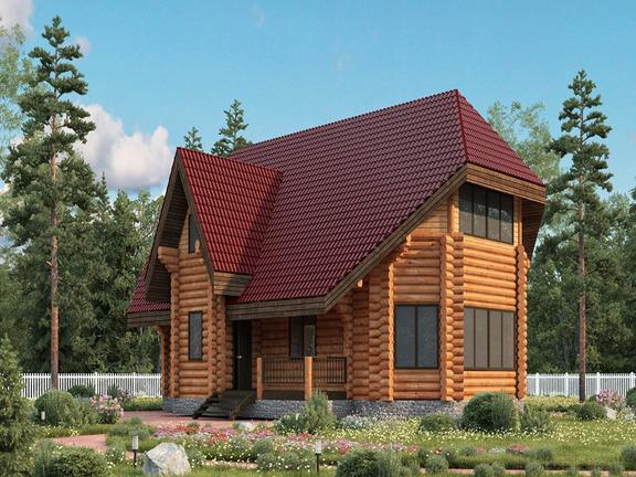 Проект деревянного дома «Дом №24» 297м2 - АЛМА WoodWork