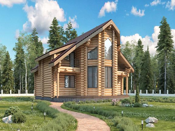 Проект деревянного дома «Дом №25» 310м2 - АЛМА WoodWork