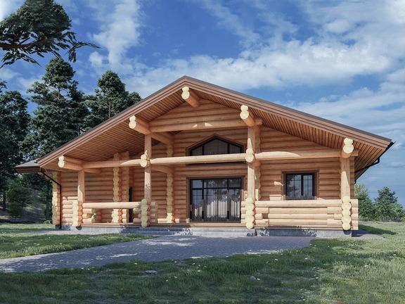 Проект деревянного дома «Дом №28» 169м2 - АЛМА WoodWork