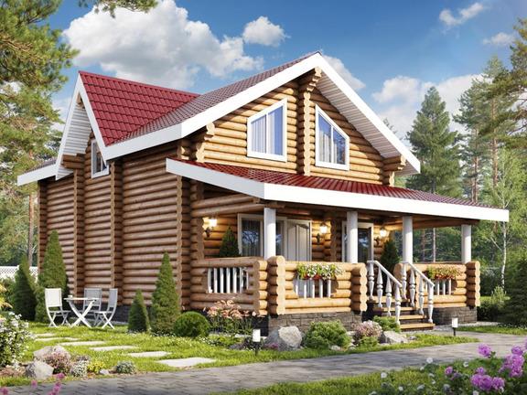 Проект деревянного дома «Дом №3» 143м2 - АЛМА WoodWork
