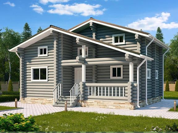 Проект деревянного дома «Дом №4» 116.7м2 - АЛМА WoodWork