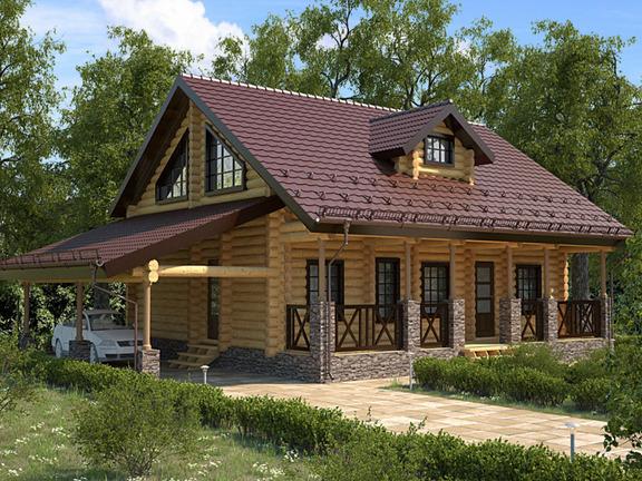 Проект деревянного дома «Дом №5» 216м2 - АЛМА WoodWork