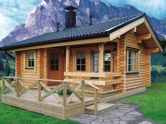 Проект деревянного дома «Дом №6» 42.5м2 - АЛМА WoodWork