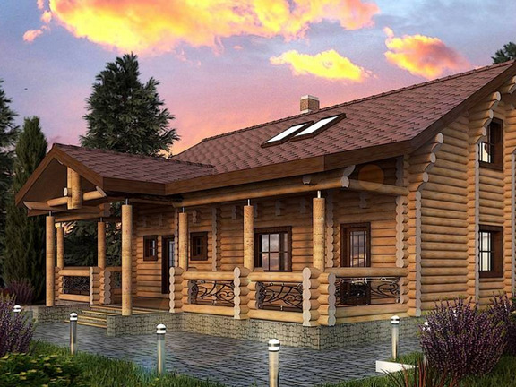 Проект деревянного дома «Дом №7» 220.9м2 - АЛМА WoodWork
