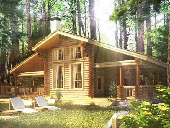 Проект деревянного дома «Дом №8» 273.3м2 - АЛМА WoodWork