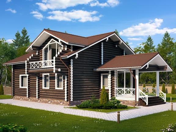 Проект деревянного дома «Дом №9» 292.1м2 - АЛМА WoodWork